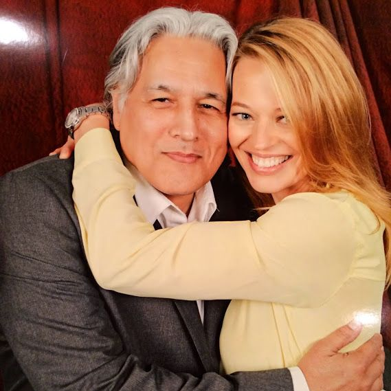 Star Trek Voyager - Robert Beltram (Commander Chakotay) and Jeri Ryan (Seven of Nine) at a Sci-Fi Convention 8th to 10th June 2014.