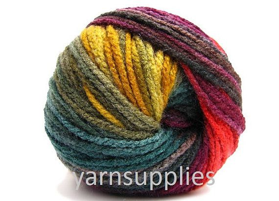 colorful knitting yarn / scarf yarn / shawl wrap by yarnsupplies, $4.75