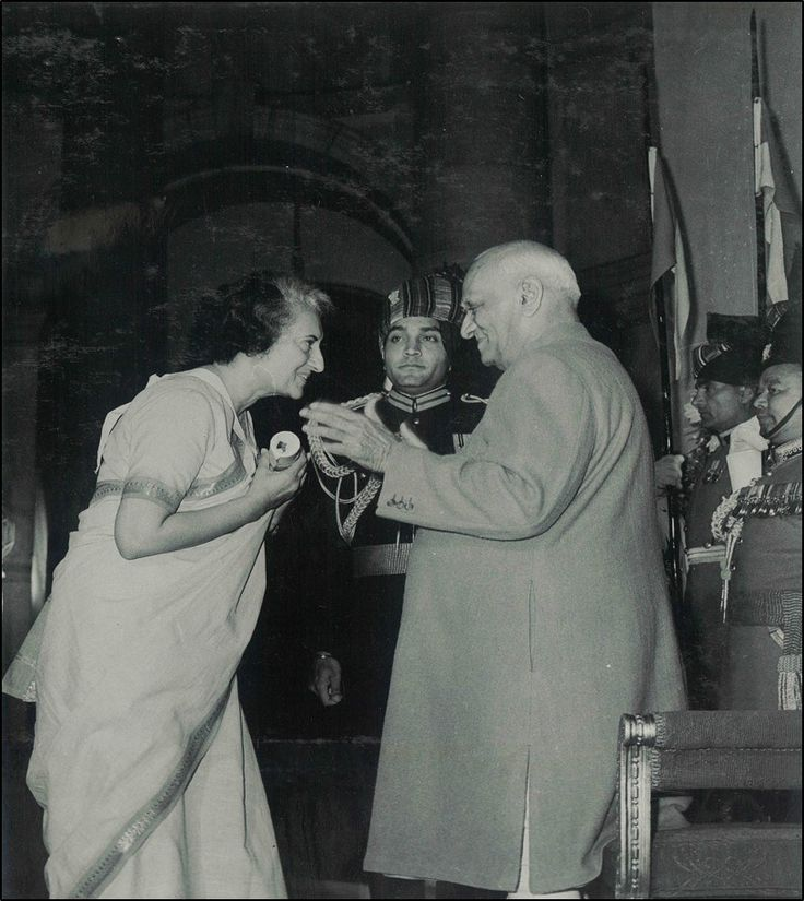 """Smt Indira Gandhi receiving the Bharat Ratna award from President V.V. Giri at Rashtrapati Bhavan. Her achievements speak a lot about her at """"Indira: A Life of Courage"""" an ongoing photo exhibition at 1, Safdarjung Road, Delhi."""