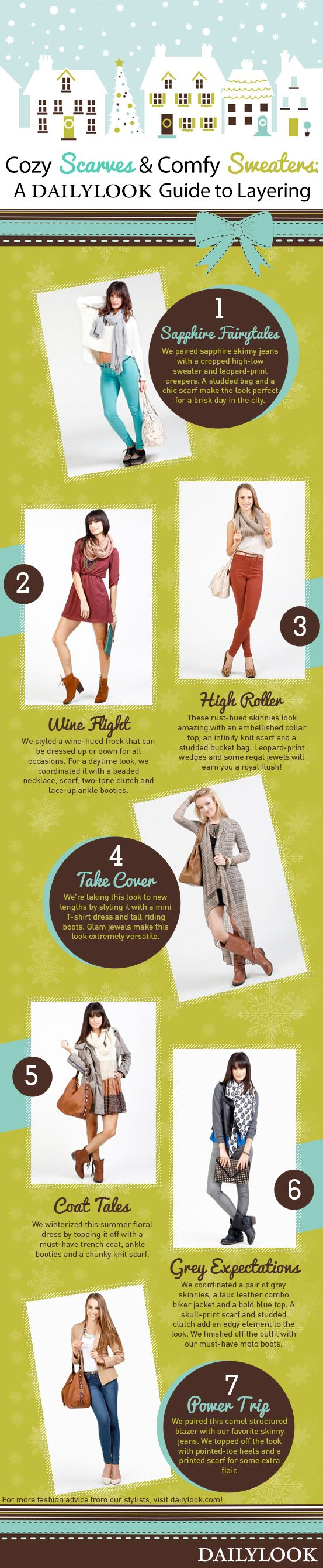 DailyLook.com: DailyLook Winter Fashion and Style with Scarves, Sweaters and Layering