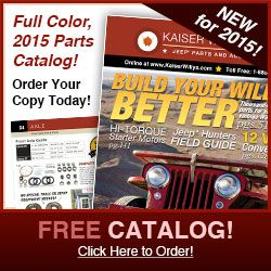 2015 Kaiser Willys Jeep Parts Catalog
