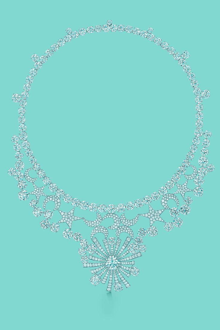 Tiffany & Co. Schlumberger® : Colar em platina com um diamante central de 5.29 quilates, e 586 diamantes.