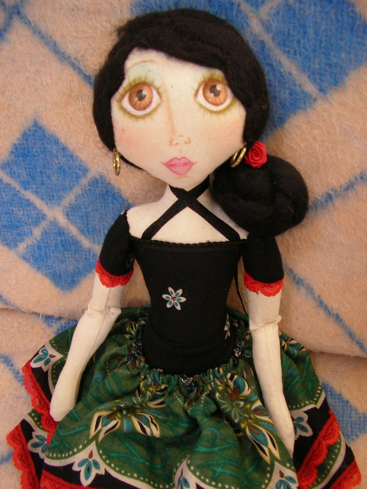THIS IS A PRETTY SENORITA DOLL. #CLOTHDOLL #ARTDOLL