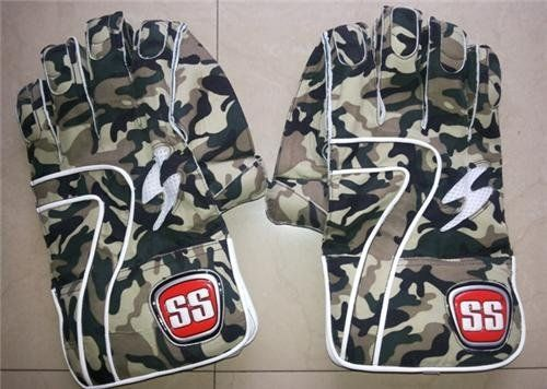 SS PLAYERS EDITION DHONI 2013 CAMO WICKET KEEPING GLOVES Blue