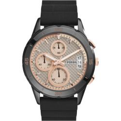 Women's Fossil 'Modern Pursuit' Chronograph Silicone Strap Watch, 39Mm