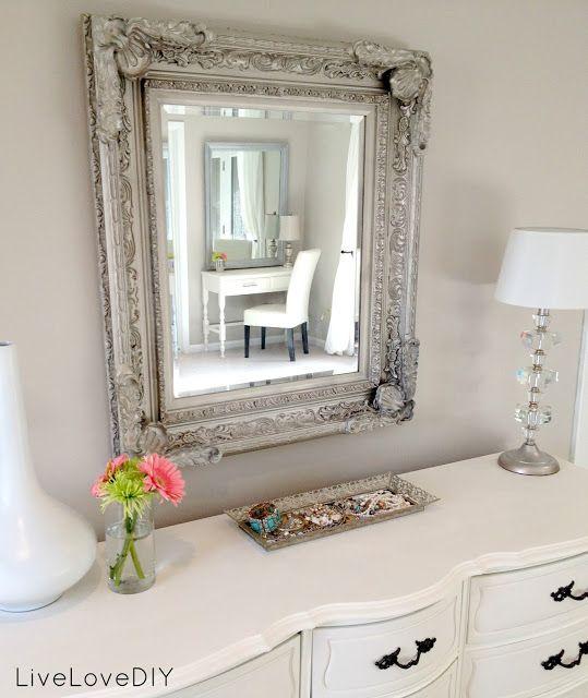 Budget Bedroom Decorating Ideas | LiveLoveDIY ...LUV this mirror!