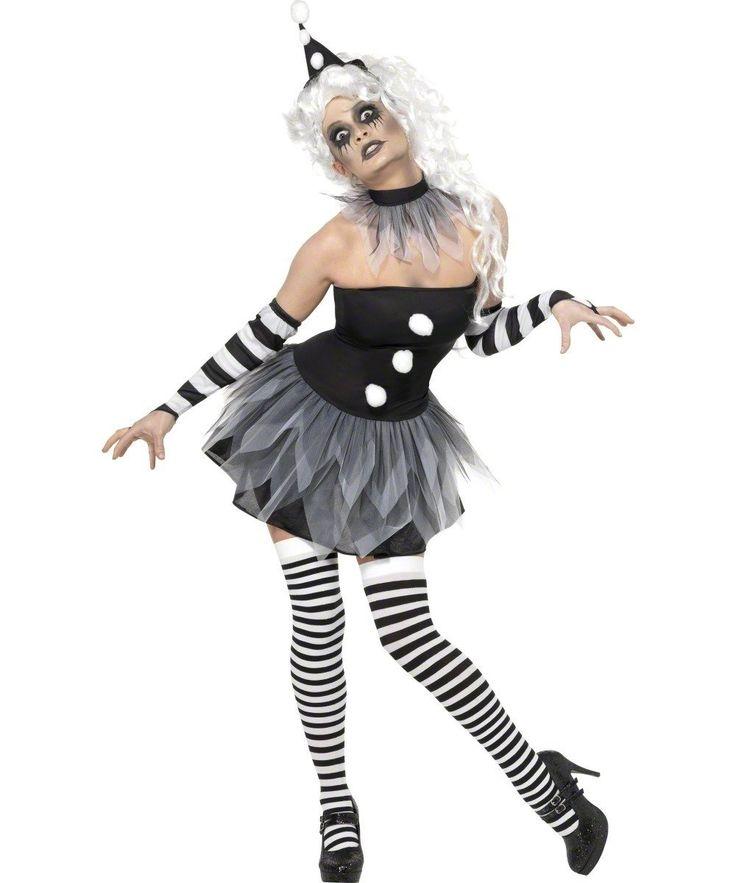 Schwarz Weiß Horror Clownkostüm Halloween Clown Halloweenkostüm Grusel verrückt Damenkostüm Sexy Crazy Kostüm für Damen Gr. 36/38 (S), 40/42 (M), Größe:M: Amazon.de: Bekleidung