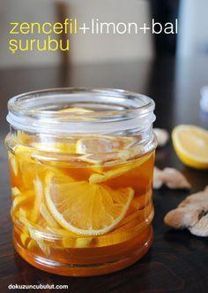 zencefil+limon+bal şurubu