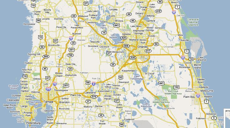 Map Of Central Florida Towns Deboomfotografie - Map of florida towns