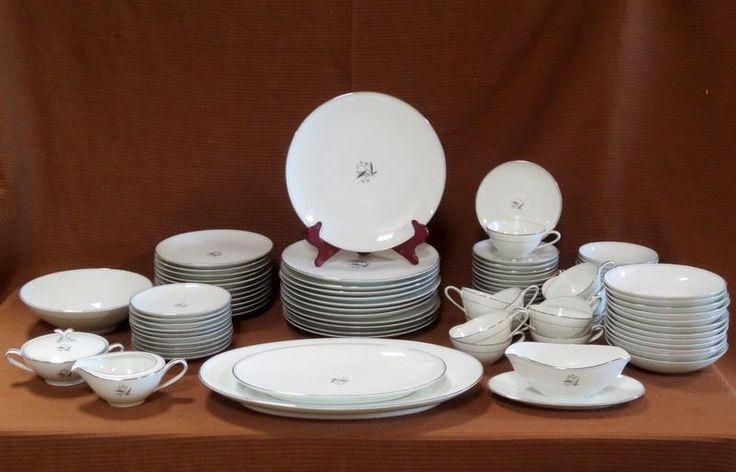 90 Pieces Noritake Graycliff 5891 Fine China Dinnerware | Pottery & Glass, Pottery & China, China & Dinnerware | eBay!