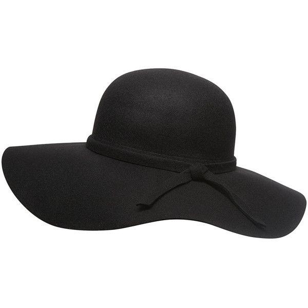 Dorothy Perkins Black Felt Floppy Hat found on Polyvore