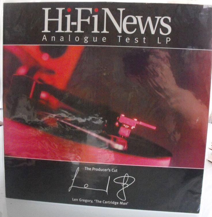 Hi-Fi News Analogue Test LP, Vintage Record, Len Gregory, The Cartridge Man, Producer's Cut, UK Hi-Fi News Magazine, Turntable Test Record by VintageCoolRecords on Etsy