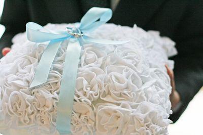 Ruffle Pillow {Wedding Ring Pillow}