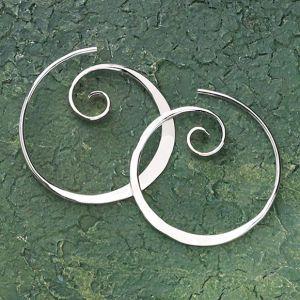 Koru Spiral Earrings - Women's Clothing & Symbolic Jewelry – Sexy, Fantasy, Romantic Fashions