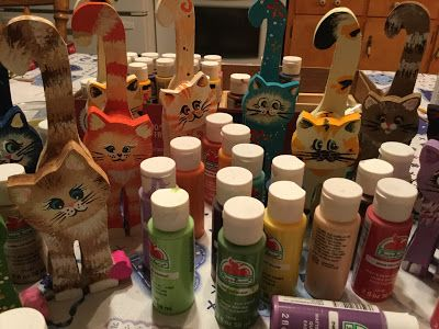 Making Wooden Cats