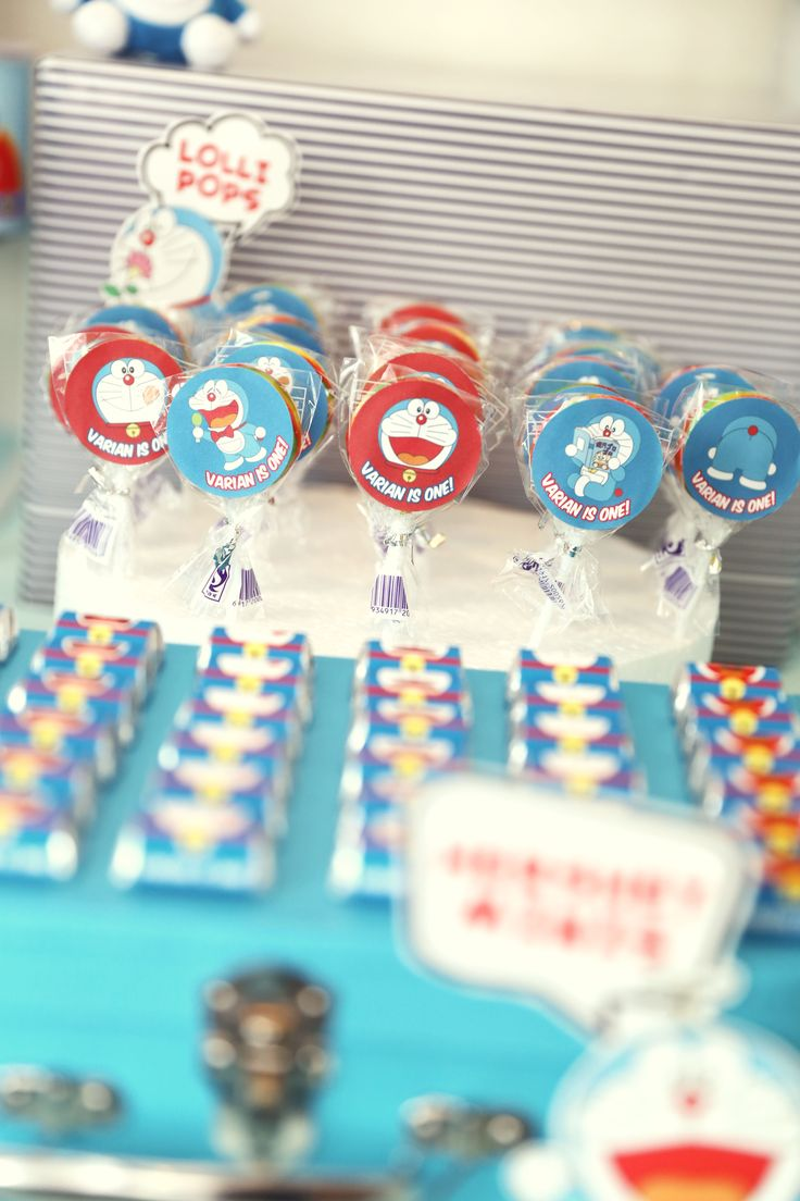 Doraemon Theme lollipops