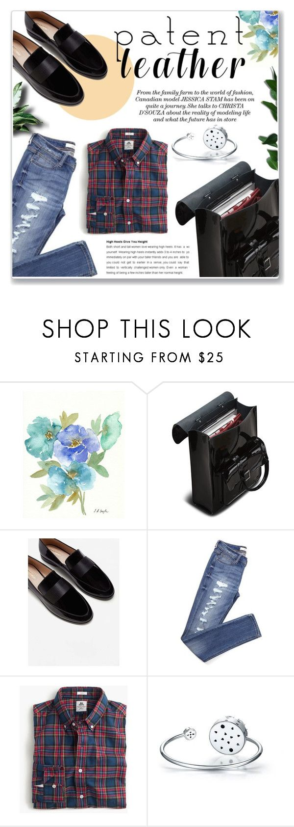 """Patent Leather"" by achernar ❤ liked on Polyvore featuring Dr. Martens and MANGO"