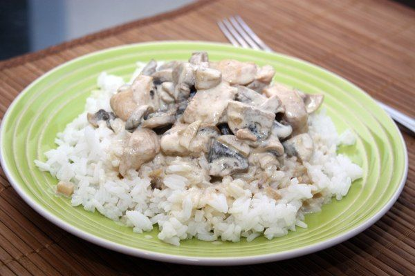 Chicken with mushrooms in a creamy sauce