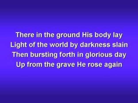 "In Christ Alone (worship video w/ lyrics) ""No FEAR in death, no GUILT in life""...in Christ Alone, can this be my truth."