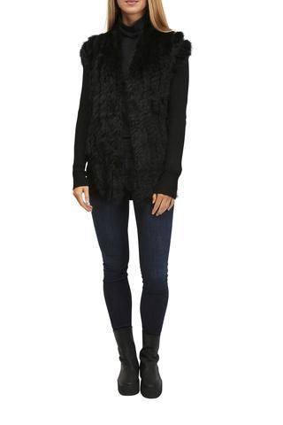 Rino and Pelle BLack Knitted Rabbit Cardigan