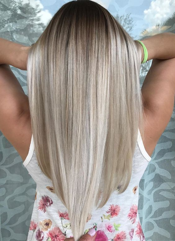 Here you can see the charming platinum silver blonde hair colors to wear in 2017-2018.