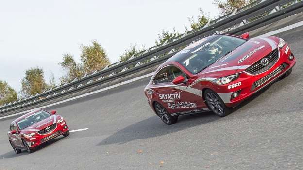 Mazda has broken a rather out of the ordinary world record with its Mazda 6 diesel saloon. The compa... - Mazda