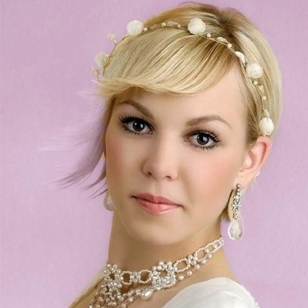 Оригинальная свадебная прическа на короткие волосы ::: onelady.ru ::: #hair #hairs #hairstyle #hairstyles