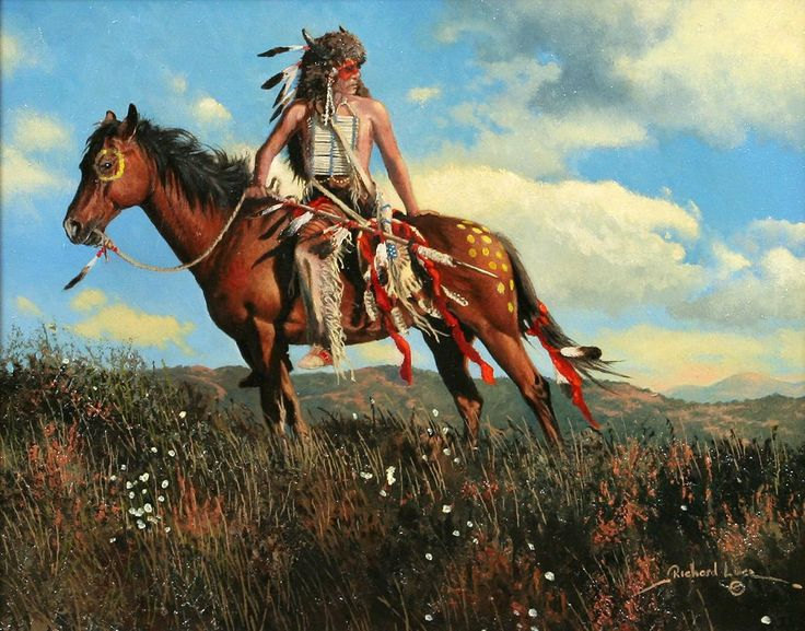 One with the Land by Richard Luce ~ Native American on ...