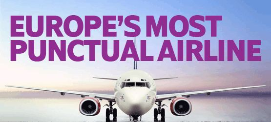 Proud to be Europe's most punctual major airline - for the third year running!