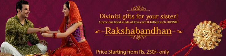 Send special Rakhi online to India through Diviniti. We also offer wide range of exclusive raksha bandhan (rakhi) gifts for sisters and brothers on our online store. For more details log on to https://www.diviniti.in/festivals/raksha-bandhan-gifts