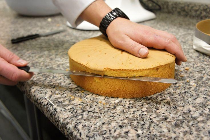 Ať už budete péct ovocný dort, nebo třeba ten s oříškovým krémem, budete potřebovat připravit světlý dortový korpus. Jak ho udělat jako profesionál? Zajeli jsme se zeptat k Martinu Polaneckému do cukrářství Viktoria v Praze, kde pečou denně desítky takových dortů. A vše ručně.