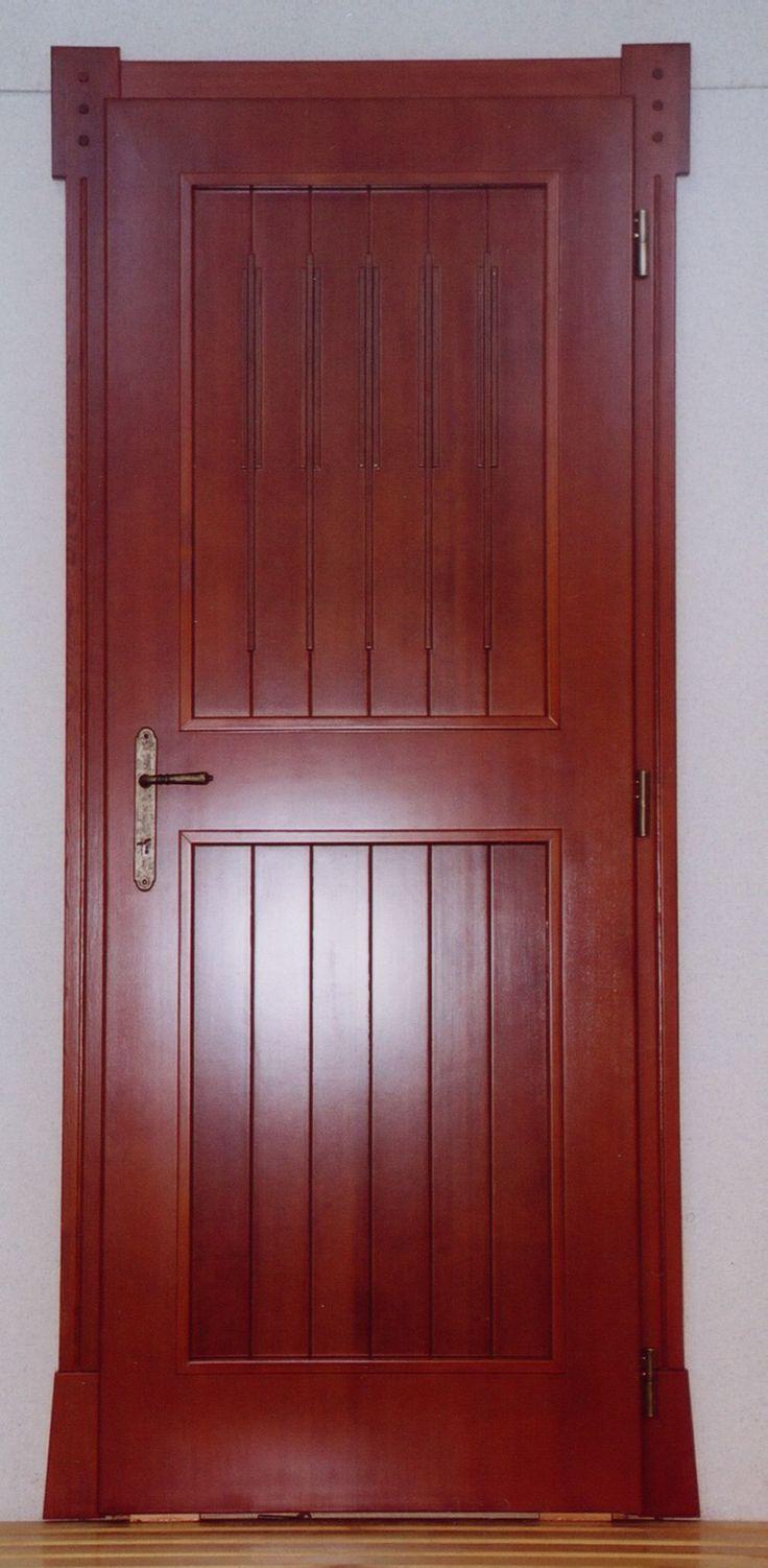 rusztikus beltéri ajtó, egyedi borítással