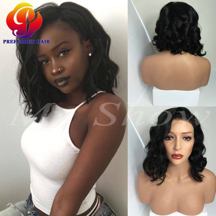 Find More Human Wigs Information about Short Lace Front Wigs Human Hair Full…