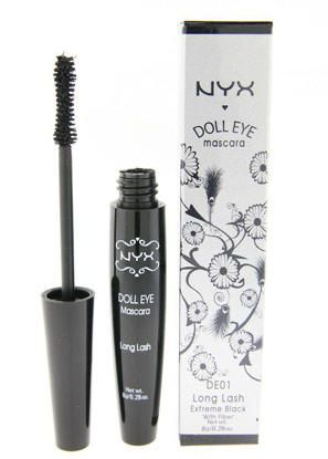 NYX Doll Eye Mascara: Mac False Lashes Mascara DUPE. Try this trick for out-to-there lashes: First, coat your lashes with baby powder using a q tip, then put on mascara. Repeat the process to achieve ridiculously long lashes. It really works!