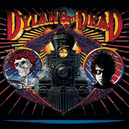 "The Grateful Dead ""Dylan and The Dead"" Columbia Records C 45056 12"" LP Vinyl Record, US pressing (1989) Album Cover Art by Rick Griffin"