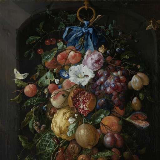 Festoon of Fruit and Flowers, Jan Davidsz. de Heem, 1660 - 1670 - Search - Rijksmuseum