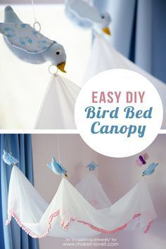 Easy DIY Bird Canopy....for above a BED! | via Make It and Love It. This is the cutest project! Every little princess would love it.