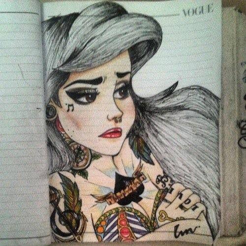 Gothic Ariel drawing | Gothic princess