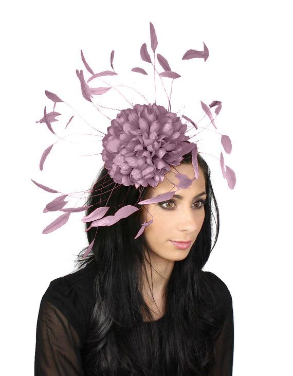 Margeaux Lilac Fascinator Hat for Weddings, Races, and Special Events With Headband