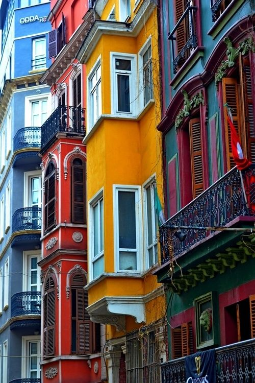 bluepueblo: Balconies, Istanbul, Turkey photo via sarah