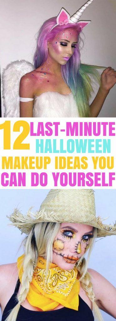 Amazing last-minute easy Halloween makeup ideas! I love these easy halloween makeup tutorials for women and teens