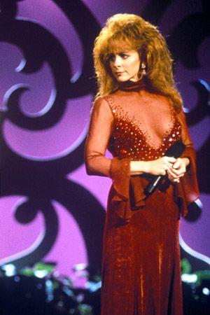 Shocking Moments In Country Music: Reba's Red Dress  #Reba #CountryMusic #RedDress