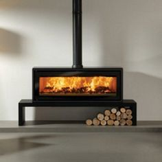 great looking free standing wood burning high efficiency heating - Google Search