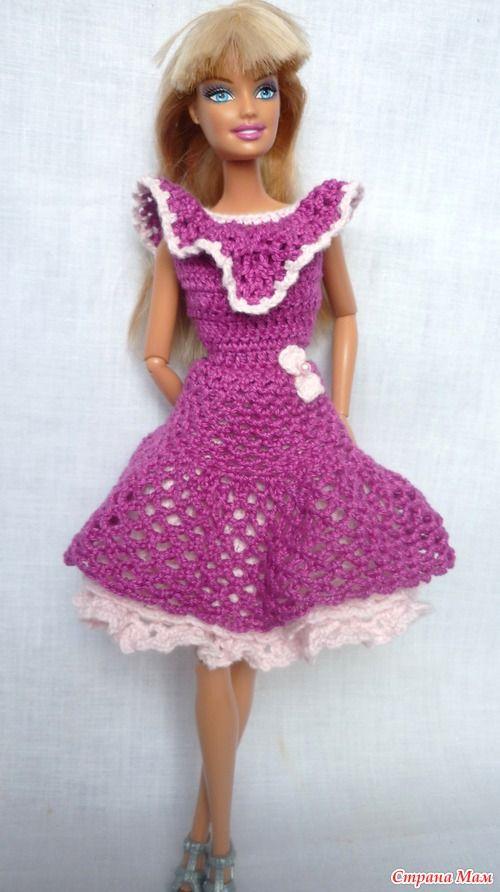 Нарядное платьице на Барби - Гардероб для куклы - Страна Мам