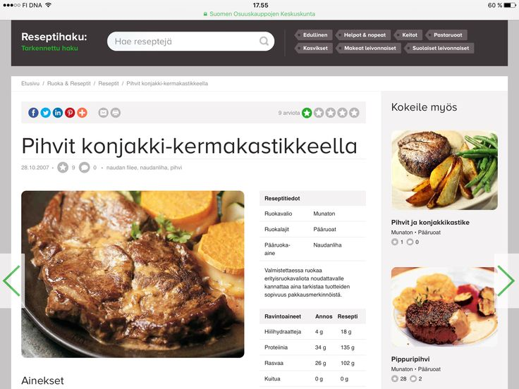 Malli 009: Ruoka-ohjeet. Enää ei tarvitse erillisiä kokkikirjoja ollaksesi kokki.