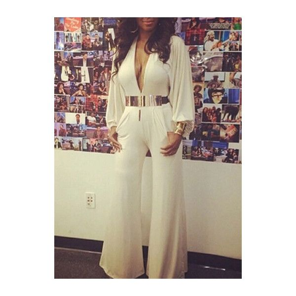 17 best ideas about White Long Sleeve Jumpsuit on Pinterest ...