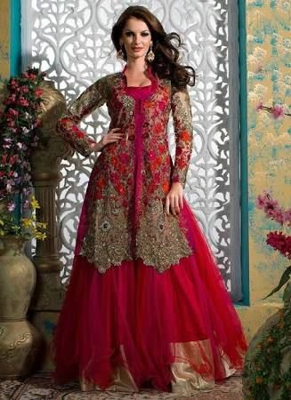 New Collection of Multi Color Bridal Gowns Lehenga 2016 Pictures
