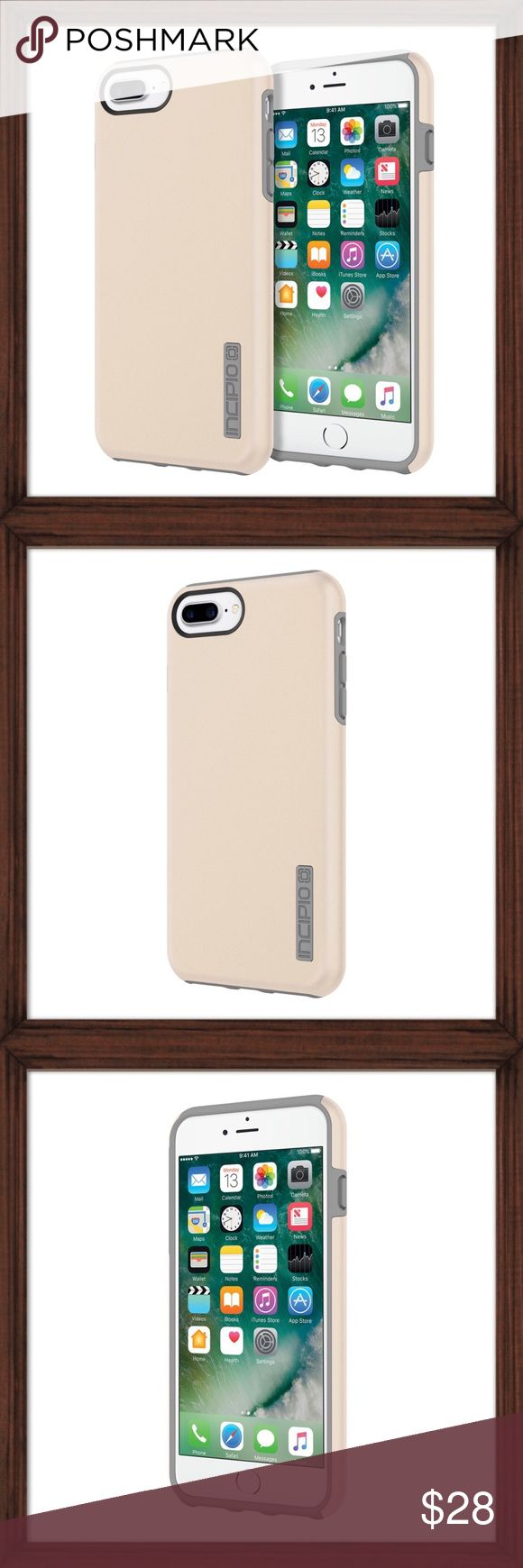Incipio IPhone 7 Plus DualPro Case Incipio's DualPro® Case with two layers of defense doubles the protection. The soft, inner silicone core and hard, outer Plextonium™ shell work together to keep your device safety the number one priority. Also compatible with iPhone 6 Plus/iPhone 6s Plus. Available in iridescent champagne/grey. Drop tested 12 ft. Incipio Accessories Phone Cases