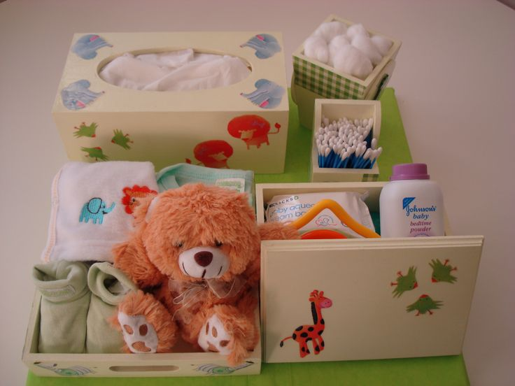 Personalised baby décor boxes