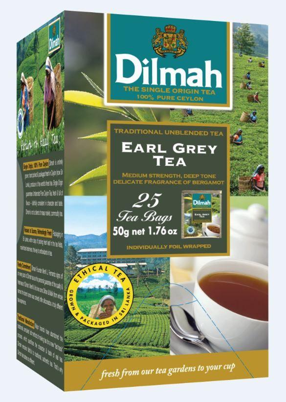 Čaj Dilmah gourment selection - Earl Grey